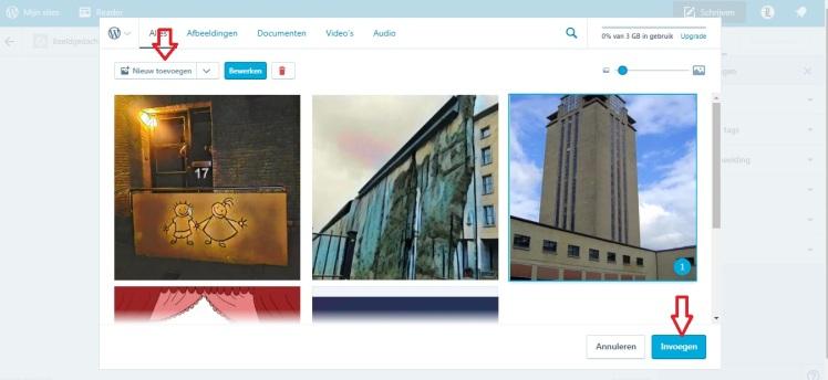Wordpress media-galerij