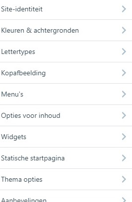 Wordpress aanpassen lijst